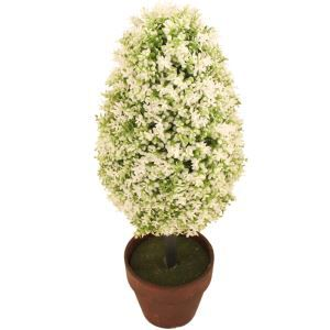 White Artificial Topiary Tree